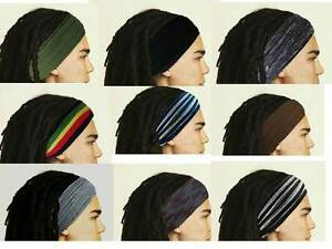 Mens Headband Dreadband Head Scarf Turban Dreadlock Wrap Mens Hair Accessories