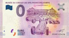 Billet Touristique 0 Euro --- Musée du circuit de Spa Francorchamps - 2018-1