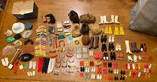 Huge Lot Vintage Barbie & Friends Doll Accessories Shoes Heads Gloves Wigs Japan