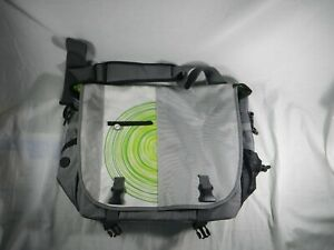 Official Microsoft XBOX 360 Travel Shoulder Bag Carrying Case White Gray Green