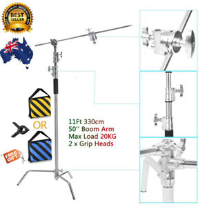 Heavy Duty C Stand Reflector Light Stand with Boom Arm Kit f Studio Photography