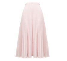 Whistles -- Ellie Grid Pleated Skirt - New With Tag - Pink - Size 14 - Women's