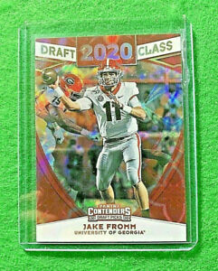 JAKE FROMM GALACTIC PRIZM SSP ROOKIE CARD JERSEY #11 UGA RC BILS 2020 Contenders