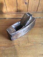 Vintage Carpenters Small Wooden Block Plane Bench Plane - Stamped British Made