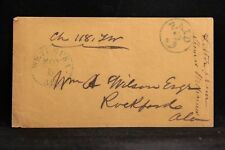 Alabama: Wetumpka 1850s Stampless Cover, Chg 118, Blue CDS & Large PAID 3