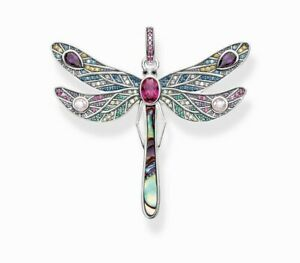 Colourful Dragonfly Pendant Jewelry 925 Sterling Silver Magic Gift UK