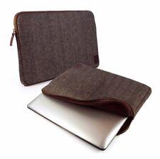 """Tuff-Luv Herringbone Tweed sleeve case cover 13"""" MacBook Air Pro Retina - brown"""