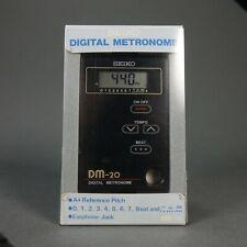 Seiko Dm-20 Professional (440hz) Digital Metronome Nice Condition! New Battery!