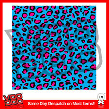 Impresión de leopardo / Hoonigan Stickerbomb Hoja @ 1m X 300mm Vw / Drif / Jdm / blue&pink