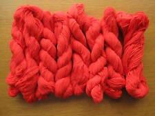 Vintage Yarn Knitting Wool Balls Skeins 1960s 1970s Bright Orange Red 160g