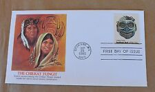 VTG US Postage Cachet FDC #1835 The Chilkat Tlingit Indian Masks 15c 1980