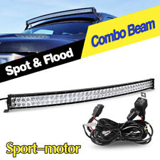 """Curved 42inch Led Work Light Bar Spot Flood Combo Driving Lamp 40"""" 44"""" + Harness"""
