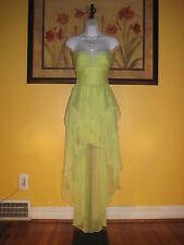 NWT  Arden B. Peridot Green Hi-Lo Strapless Maxi Dress Size  XS