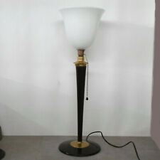 Original Mazda Tischlampe von 1930 mit original Opalglastulpe, Designer-Lampe