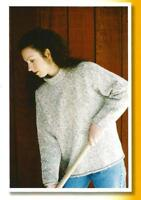 "Neckdown Pullover for Women Sweater Knitting Pure & Simple Pattern 38""-54"" #9724"