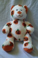 "Build a Bear Halloween Plush Pumpkin 15"" Bear Jack O Lantern Fall Harvest BABW"