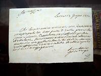 1850 35) RARA LETTERA AUTOGRAFA DEL POETA GENOVESE GIAN CARLO DI NEGRO
