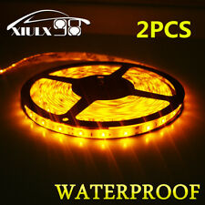 2X Waterproof IP65 Amber 5m Roll 16ft 3528 SMD LED 300 LEDs Flexible Light Strip