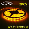 2X Waterproof IP65 Amber 5m Roll 16ft 3528 SMD LED 300 LEDs Flexible Light Strip
