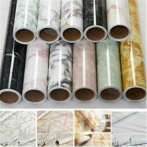 Waterproof Marble Contact Paper Kitchen Self Adhesive Vinyl Roll Wall Sticker US