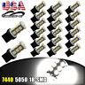 20x White 7440 T20 18SMD LED Tail Brake Stop Backup Reverse Light Bulbs 7441 12V