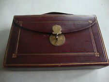 Really super antique Edwardian red leather ladies travelling writing set