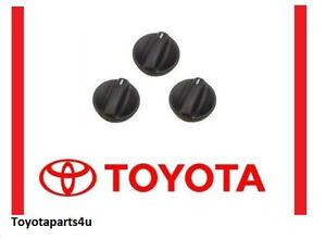 Toyota Tundra 2000-2006 A/C Heater Knob Set of 3 Genuine OEM 55905-0C010