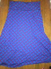 Lularoe Maxi Skirt Size 2XL, Blue and Red, Summer Skirt, Patriotic Colors