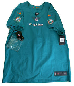 Miami Dolphins Aqua Nike Vapor AUTHENTIC Blank NFL JERSEY Size 48 NWT