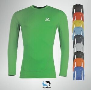 Boys Girls Sondico Long Sleeved Base Layer Top Sizes Age from 3 to 13 Yrs