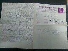 Nederland Luchtpostblad Geuzendam 1A Utrecht - Batavia kantoor LTD 1A 1947