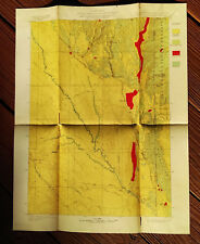 1900 Map of Wyoming and South Dakota Newcastle Quadrangle Timber Wy Sd