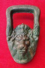 Ancienne Tete de Lion Royal en Fonte - Poignée Vase Medicis - Heurtoir de Porte