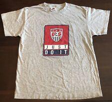 Boys Vtg 90s Kids Nike Us Soccer Just Do It T-Shirt Sz. Xl Made in Usa Swoosh