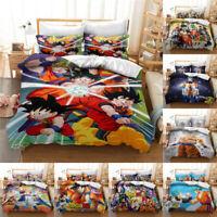 US/EU/AU Size Dragon Ball Z 3D Bedding Set Sheet Quilt Cover Son Goku Otaku Saiy
