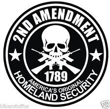 2ND AMENDMENT STICKER 1789 HOMELAND SECURITY BUMPER STICKER LAPTOP STICKER