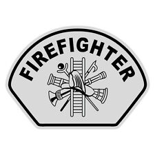 Firefighter Black Helmet Front Reflective Decal Sticker