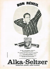 PUBLICITE ADVERTISING   1967   ALKA-SELTZER   bon réveil