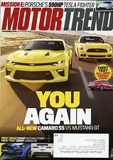 Motor Trend Magazine December 2015 All New Camaro SS Vs Mustang Gt