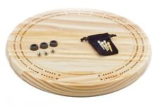 Blank UNFINISHED craft cribbage board with 4 metal pegs