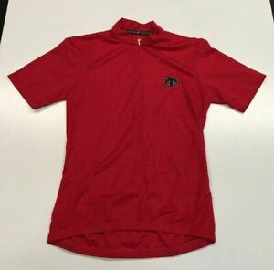 Descente: Small Cycling Jersey Red 1/2 zipper front - Pre-Owned