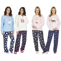 Womens/Ladies Fleece Thermal Pyjamas Pyjama Winter Nightwear Slipper Socks Set