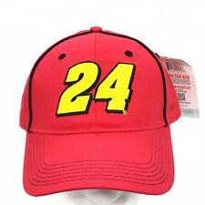 Nascar  24 Jeff Gordon Red Strapback Adjustable Hat Cap NEW! 39c95c9c3c37
