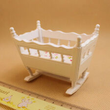 1:12 DOLL HOUSE MINIATURE WOODEN CRIB BABY CRADLE MODEL FURNITURE ACCESSORY FUN