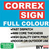 Custom Correx Signs Direct Print UV Prints Site Boards Builders Promo Cheap Fast