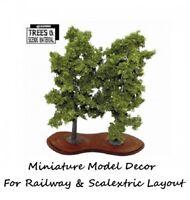 2 Large Beech Model Tree Train Railway & Slot Cars Scenery Miniature Deco Layout