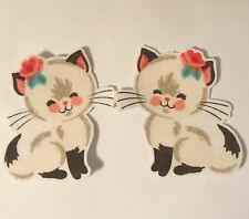 White Kitty Cats - Iron On Fabric Appliques