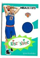 2019 Ignas Brazdeikis Panini Rookie Relic Basketball Card New York Knicks