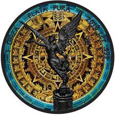 2018 1 Oz Mexican Libertad AZTEC CALENDAR -  Ruthenium Gilded and Colored Coin