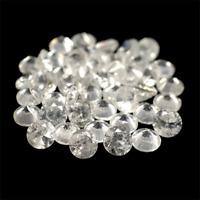 Natural 5.94 ctw. 45 pcs. White Cambodian VVS-VS Zircon Diamond Cut Gemstones